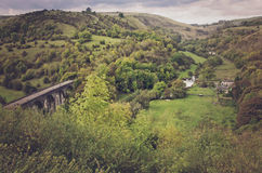 Lush green mountains, hills of the countryside in England, UK, E Royalty Free Stock Photo