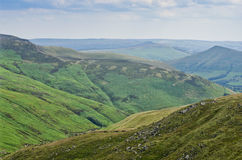 Lush green mountains, hills of the countryside in England, UK, Europe. Royalty Free Stock Images