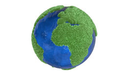 Lush green planet earth Royalty Free Stock Photo