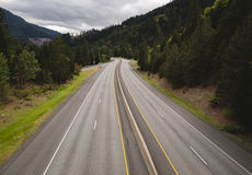 Lush highway view in the Pacific Northwest Stock Photography