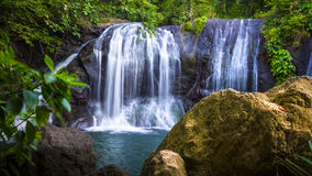 Lush Jungle Waterfall Royalty Free Stock Images