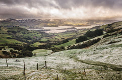 Lush landscape powdered with fresh snow Royalty Free Stock Photos