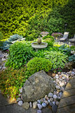 Lush landscaped garden Royalty Free Stock Photo