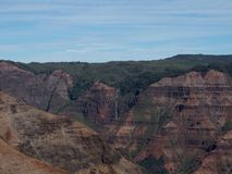 Lush Mountains of Waimea Canyon stock image