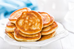 Lush pancakes. On a plate Stock Image