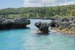 Tadine Bay: Land and Sea royalty free stock photo