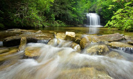 Lush Rain Forest Waterfall Royalty Free Stock Image
