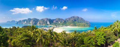 Lush tropical island: Phi-Phi Don, Thailand. Royalty Free Stock Image