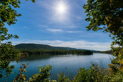 Lush Vegetation Around Raystown Lake, in Pennsylvania During Sum stock image