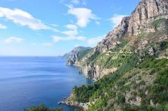 Lush View of the Amalfi Coast in Italy Stock Photo