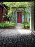Lush Yard Front. Green living royalty free stock images