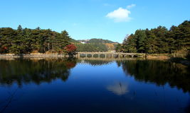 Lushan such as Kumho autumn Stock Photography