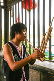 Lusheng-a reed-pipe wind instrument Stock Photo