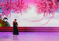 Lushuangshuang певицы поет стоковая фотография