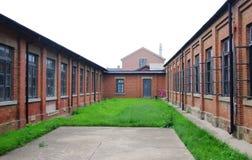 Lushun Japan-Russia Prison in northeast China. Lushun Japan-Russia Prison Site is located at No. 139 Xiangyang Street Lushunkou District Dalian Liaoning Province Royalty Free Stock Photo