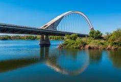 The Lusitana bridge Royalty Free Stock Photo