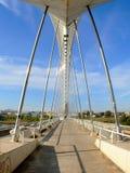 Lusitania bridge. Perspective of the Lusitania bridge in Merida (Spain Stock Photos