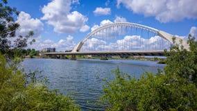 Lusitania Road Bridge in Merida, Spain Royalty Free Stock Photography