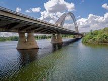 Lusitania Road Bridge in Merida, Spain Stock Photos