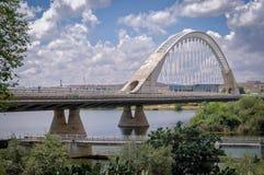 Lusitania Road Bridge in Merida, Spain Royalty Free Stock Photos