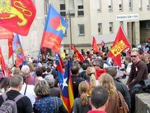 Lusitanian språkprotest Fotografering för Bildbyråer