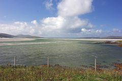 Luskentyre strand, ö av Harris, Skottland royaltyfri fotografi