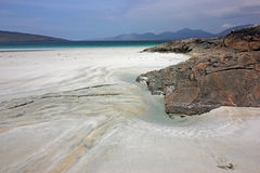 Luskentyre strand, ö av Harris, Skottland Royaltyfria Foton