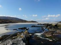 Luskintyre strand, ö av Harris scotland Royaltyfria Foton