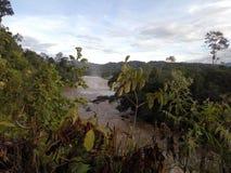 Lusong Laku vattenfall Belaga Sarawak Fotografering för Bildbyråer