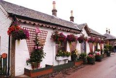 Luss En by i Skottland Närliggande Loch Lomond Arkivfoto