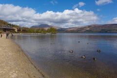 Luss village on the banks of Loch Lomond Scotland UK Royalty Free Stock Image