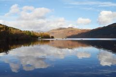 LUSS WATER FRONT royalty free stock photos