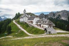 Lussari-Dorf Lizenzfreies Stockbild
