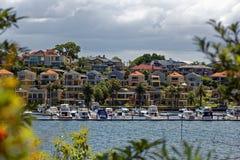 Lusso che vive nel paesaggio del porto di Sydney Fotografia Stock Libera da Diritti