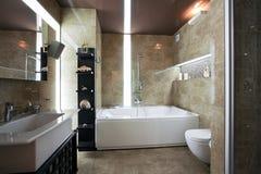 lusso dell'interiore della stanza da bagno Fotografie Stock