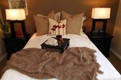 lusso della camera da letto alla moda Fotografia Stock