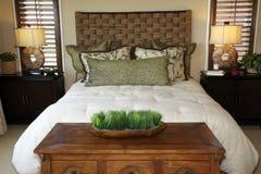 lusso domestico della camera da letto immagini stock