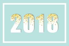 Lusso iscrizione di scintillio dell'oro da 2018 nuovi anni per la vostra decorazione Immagine Stock