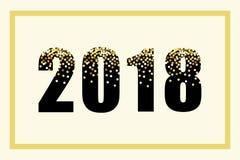 Lusso iscrizione di scintillio dell'oro da 2018 nuovi anni per la vostra decorazione Fotografia Stock