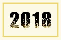 Lusso iscrizione di scintillio dell'oro da 2018 nuovi anni per la vostra decorazione Immagine Stock Libera da Diritti