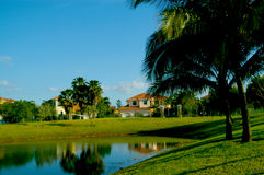 Lusso milione case urbane del dollaro in Florida Fotografia Stock