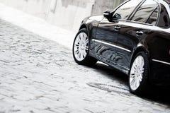 lusso nero dell'automobile Immagine Stock Libera da Diritti