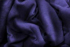 Lusso polare blu della coperta del panno morbido fotografia stock libera da diritti
