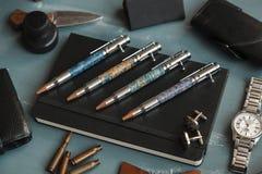 Lusso stabilito della penna Fotografia Stock Libera da Diritti