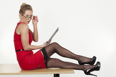 Lust in the office Royalty Free Stock Photos