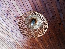 Luster. Ceilling planks and lustre light royalty free stock image