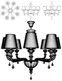 Luster Chandelier Illustration Vector Stock Images