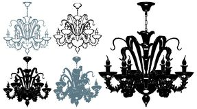 Luster Chandelier Illustration Vector Royalty Free Stock Photo