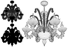 Luster Chandelier Illustration Vector Stock Image