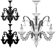 Luster Chandelier Illustration Vector Royalty Free Stock Image